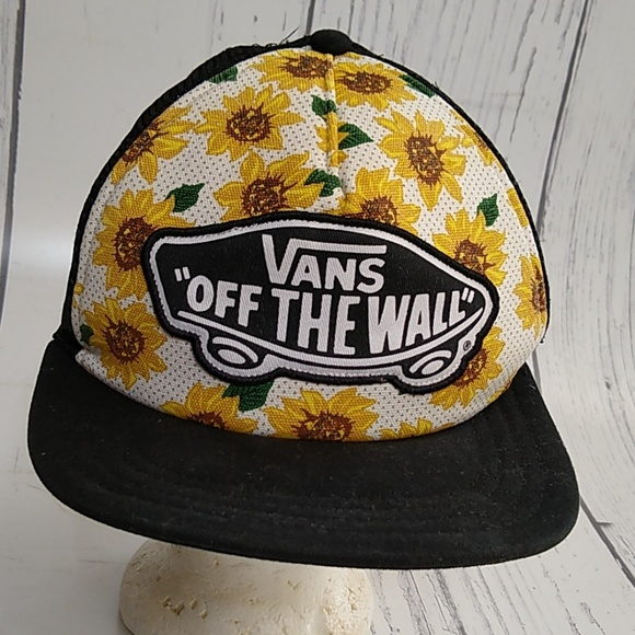 3b22314aba9 Vans Off The Wall Spring Sunflower Snapback Hat. M 5c9a7838aa571924f7e6a83d